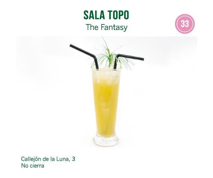 Cóctel de  Sala Topo para molina tapas 2018