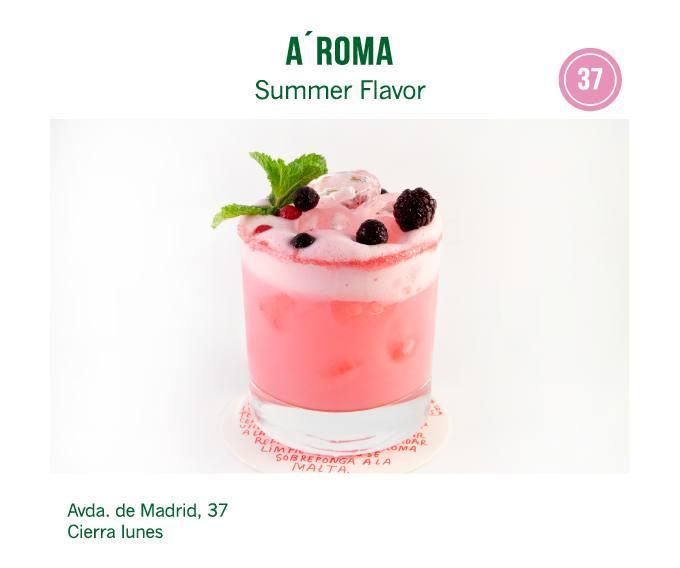 cóctel Cafe Bar A'Roma  para molina tapas 2018