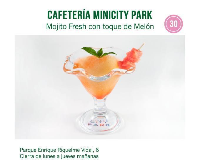 cóctel Cafetería Minicity Park para molina tapas 2018