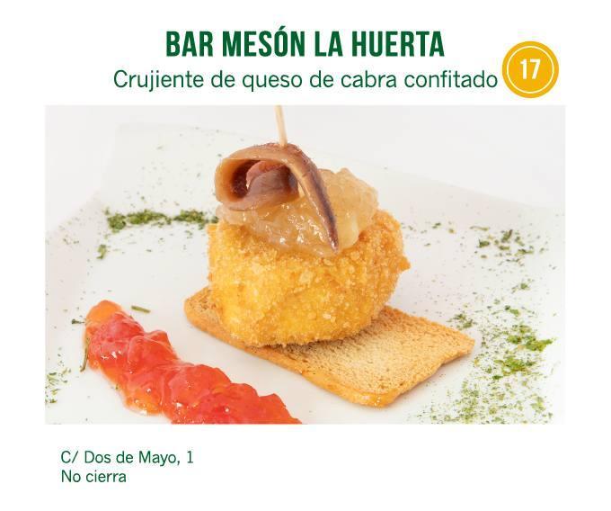 tapa Bar Mesón La Huerta para molina tapas 2018