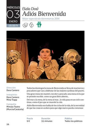 Programación Teatro Villa de Molina de Octubre a Enero de 2018