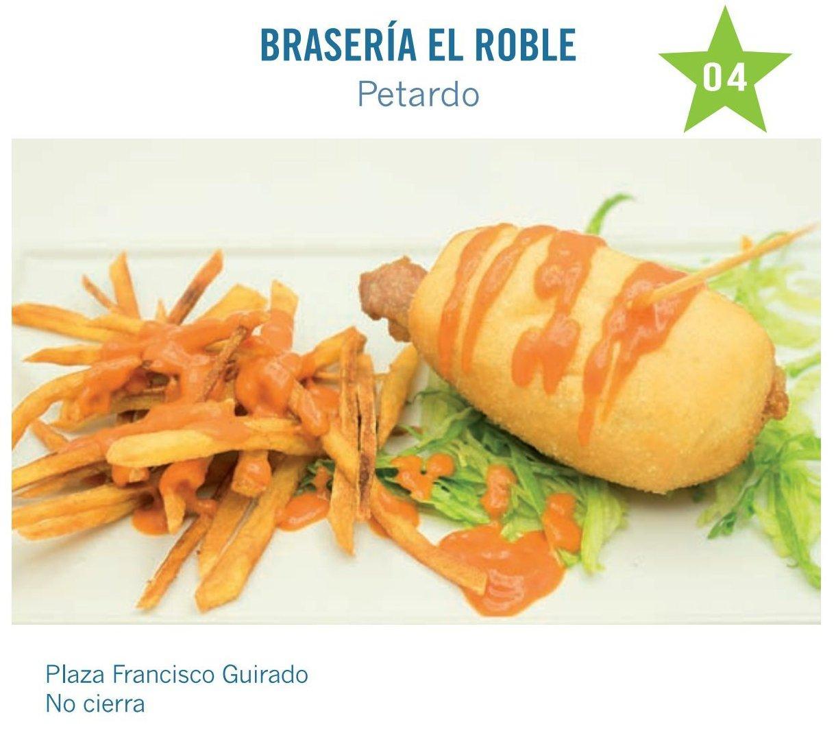 tapa de Restaurante Bar El Roble Brasería para molina tapas 2017