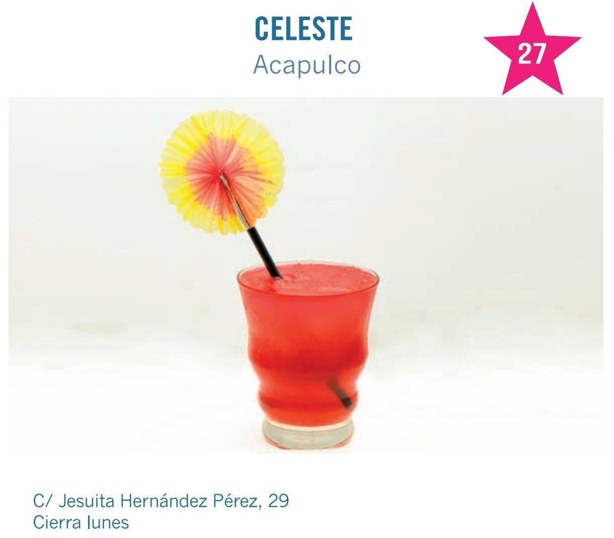 cóctel de Celeste bar para molina tapas 2017