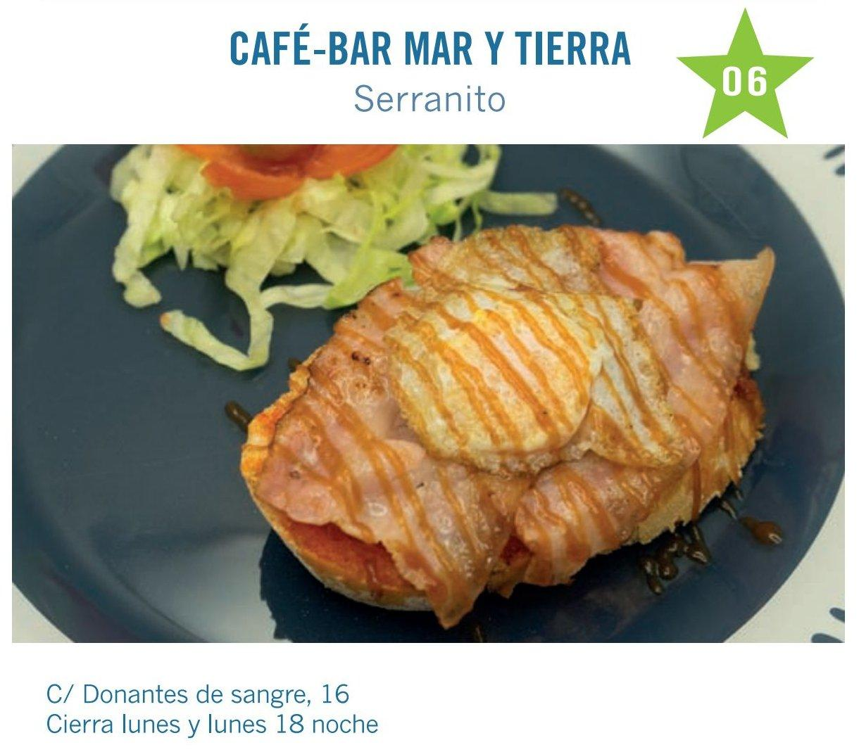 Serranito es la tapa de cafe bar mar y tierra para molina tapas 2017