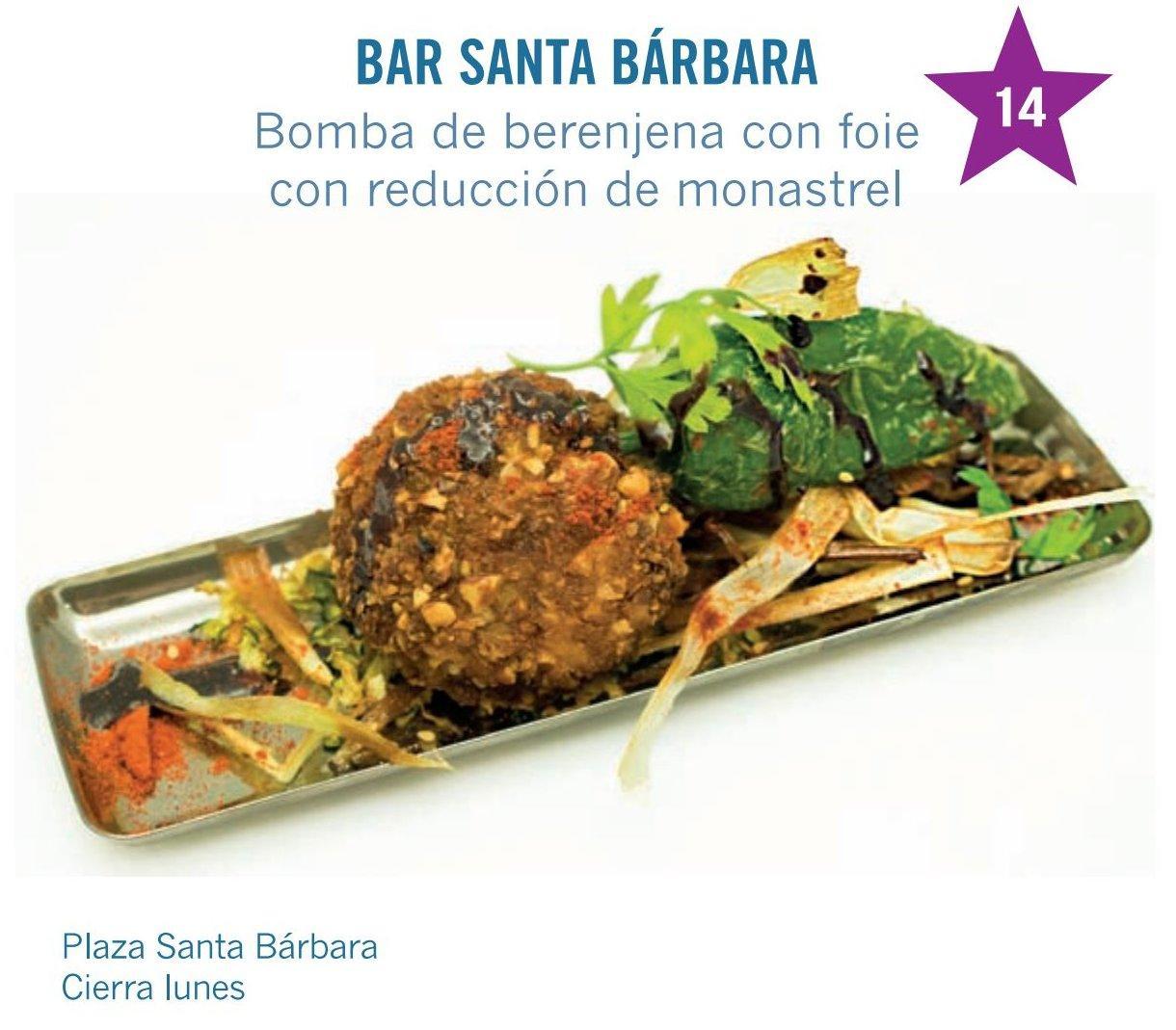 tapa de Restaurante Bar Santa Bárbara para molina tapas