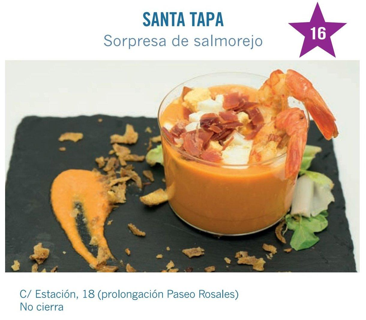tapa de La  Santa Tapa Bar para molina tapas 2017