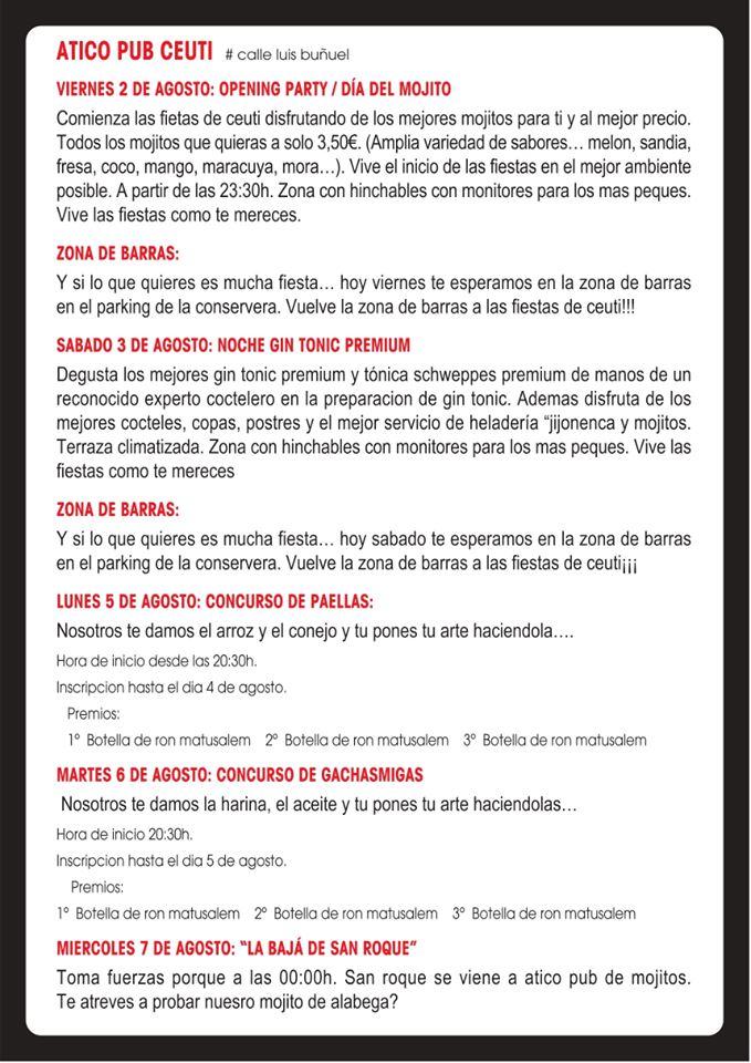 programa fiestas ceutí 2019