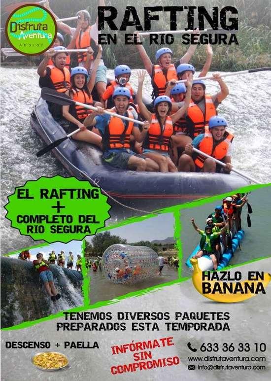 Rafting en el Rio Segura