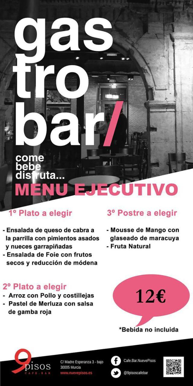 Menú Ejecutivo 12 € Gastrobar