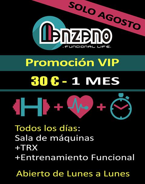 Promoción Vip en Manzano funcional Life