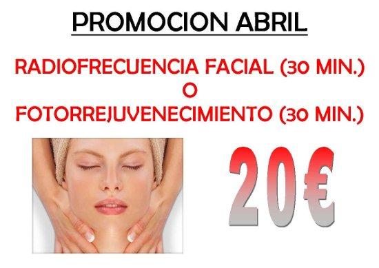 RadioFrecuencia Facial o Fotorrejuvenecimiento 20€ en Más que Estética