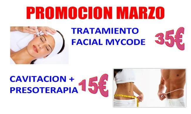 Más que Estética Tratamiento Facial Mycode 35€ - Cavitación  + Presoterapia 15€