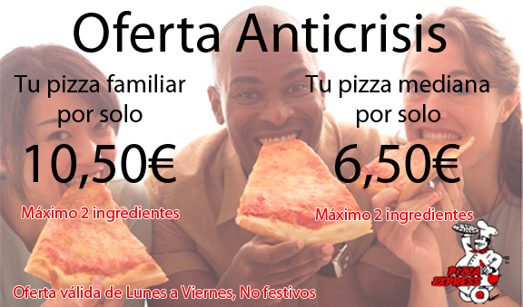 Oferta Anticrisis Pizza 2 Ingredientes