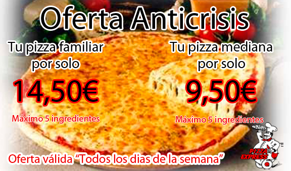 Oferta Anticrisis Pizza 5 Ingredientes