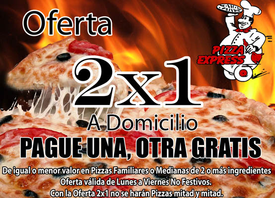 Oferta 2x1 Pizza Express
