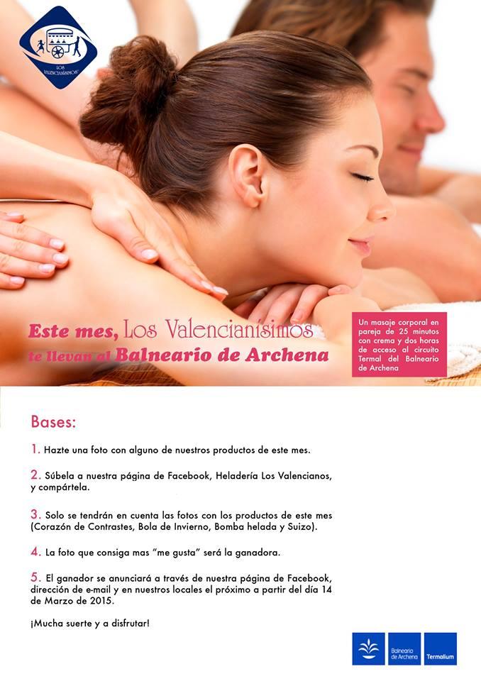 Heladería Los Valencianos te regala un masaje