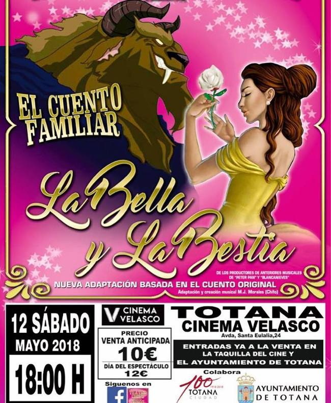 La bella y la Bestia cine-velasco-totana