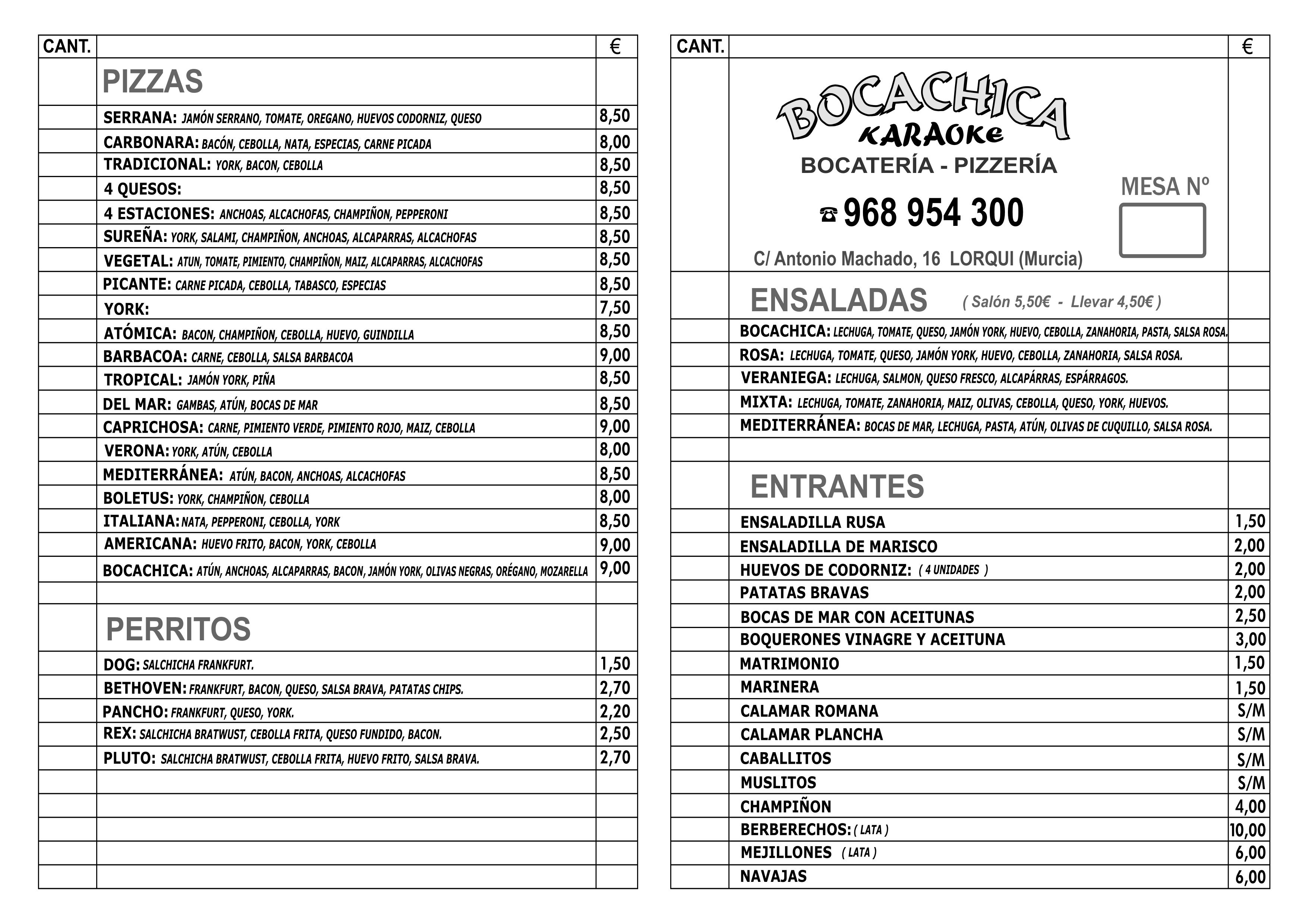 Bocachica Pizzer 237 A Bocater 237 A Karaoke La Gu 237 A W La Gu 237 A